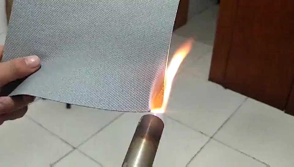 硅胶防火布燃烧测试视频