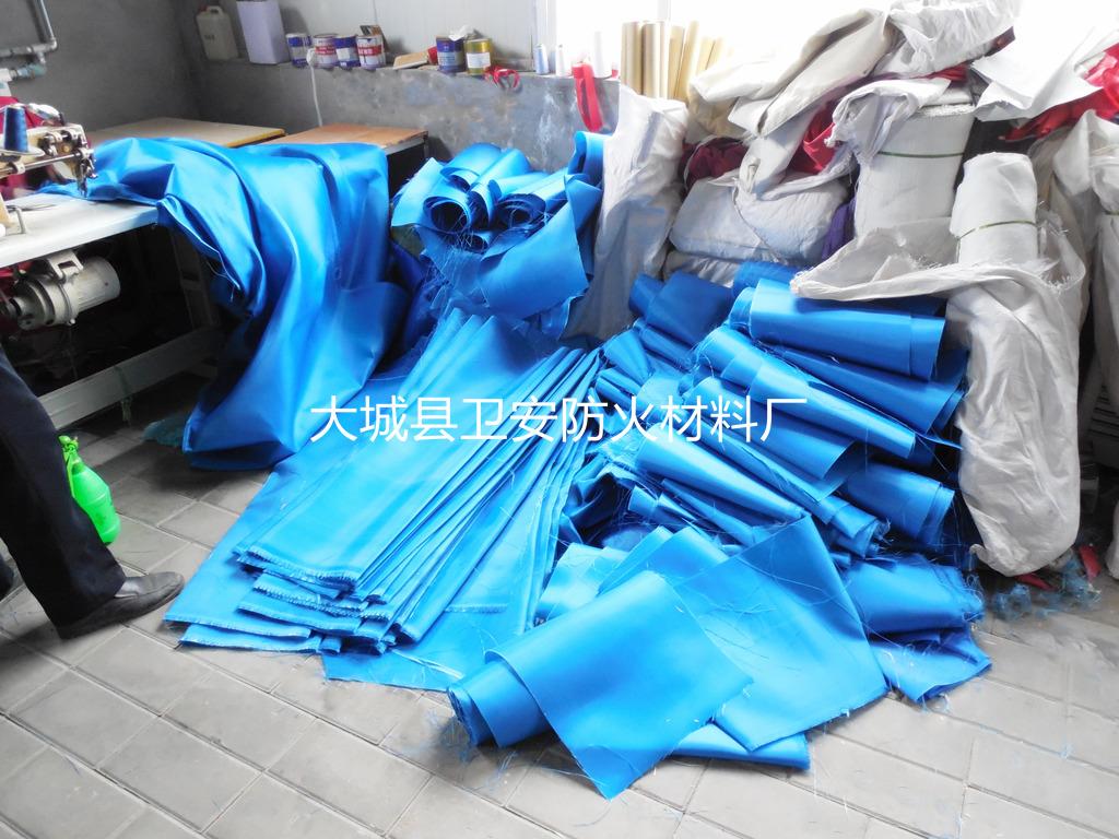 无机防火卷帘装饰布_蓝色防火卷帘装饰布