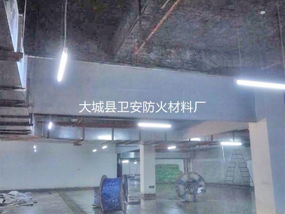 地下车库挡烟垂壁安装